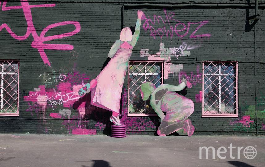 """Юля Ванифатьева, Pink Power. Фото предоставлено PR-группой Музея стрит-арта, """"Metro"""""""
