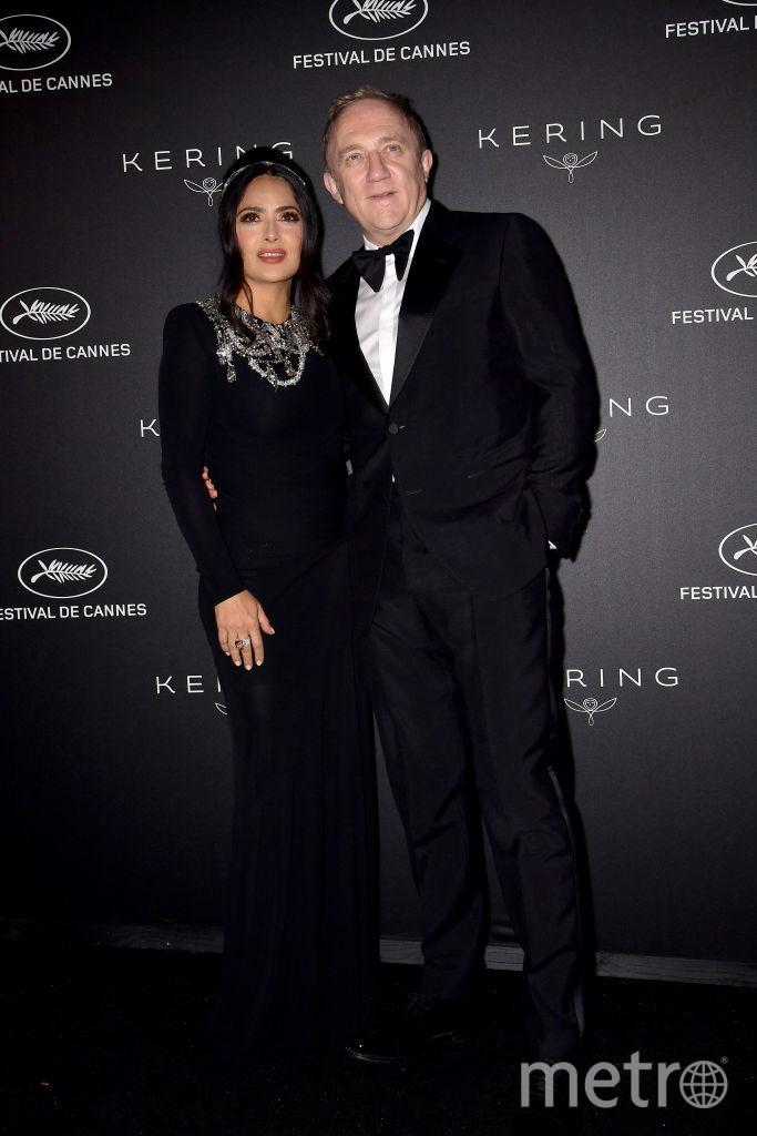 Каннский кинофестиваль. Сальма Хайек с мужем. Фото Getty