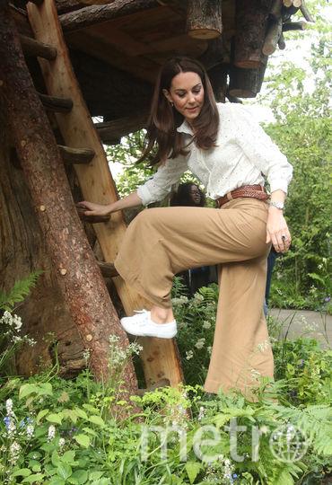Кейт Миддлтон побывала в своем садике во время пресс-дня перед открытием выставки. Фото Getty