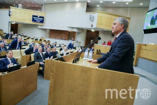 Председатель Государственной Думы Вячеслав Володин.