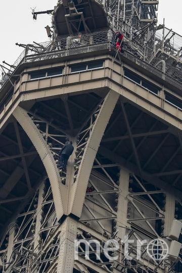 Эйфелеву башню закрыли для посещения из-за забравшегося на неё мужчины. Фото AFP