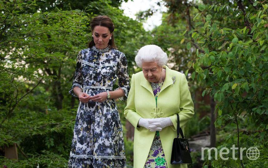 Выставка Chelsea Flower Show. На пресс-день прибыли королева Елизавета, Кейт Миддлтон и принц Уильям. Фото Getty
