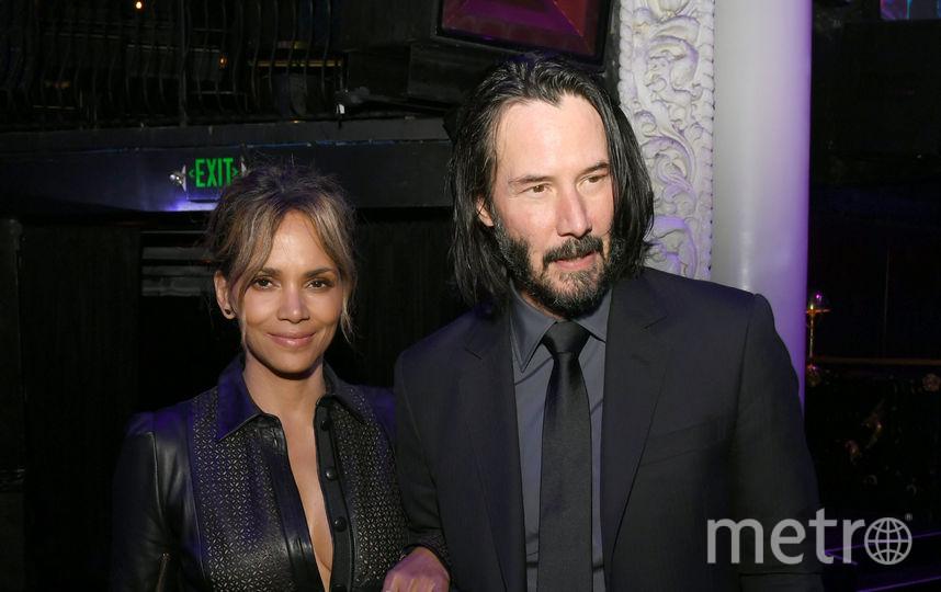 """Киану Ривз и Холли Берри на премьере """"Джона Уика 3"""". Фото Getty"""
