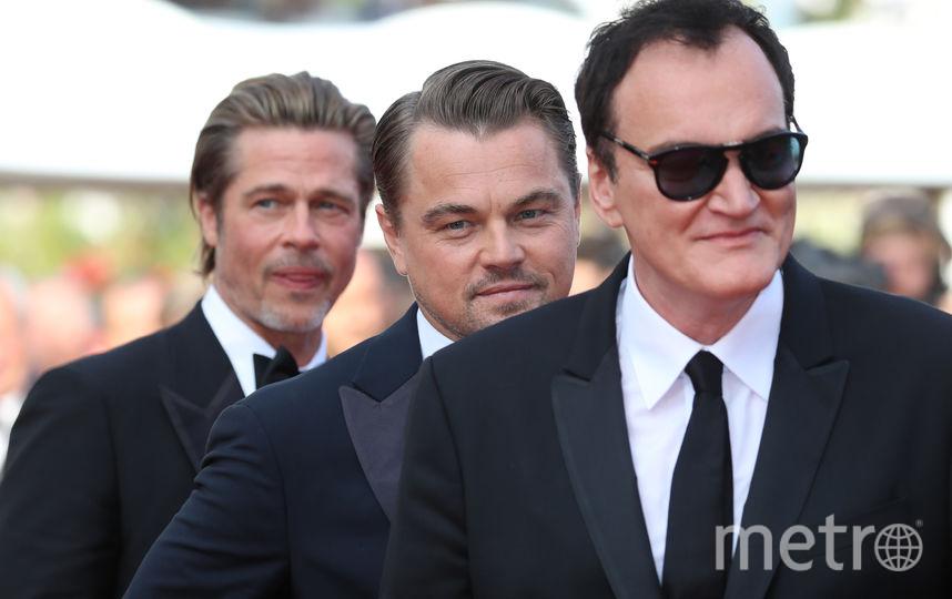 Квентин Тарантино, Леонардо Ди Каприо и Брэд Питт. Фото AFP