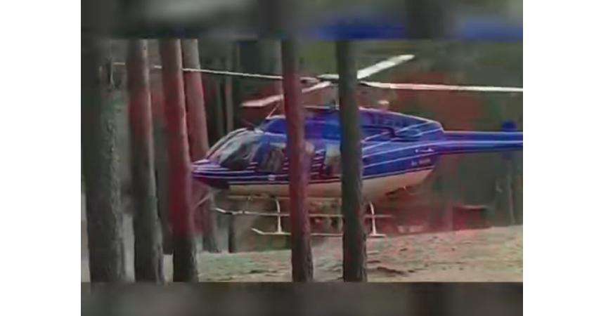 """Вертолет был так низко, что напугал людей. Фото https://www.youtube.com/watch?v=oBeocWVZTEU, """"Metro"""""""