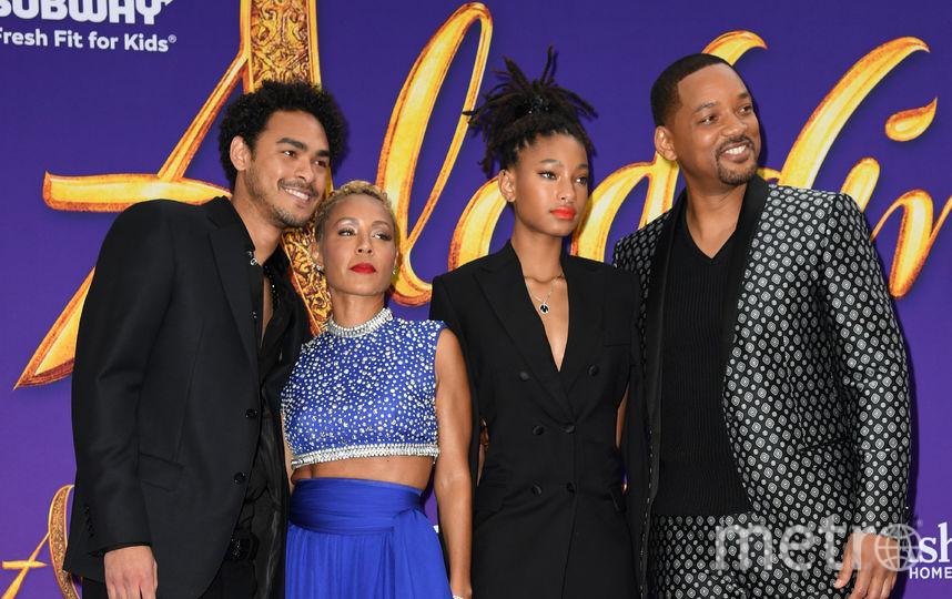 Уилл Смит с женой и детьми. Фото Getty