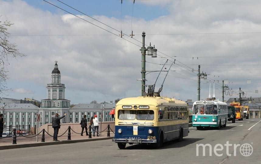 Музейные трамваи и троллейбусы 25 мая примут участие в параде ретротехники. Фото СПб ГУП «Горэлектротранс», Предоставлено организаторами