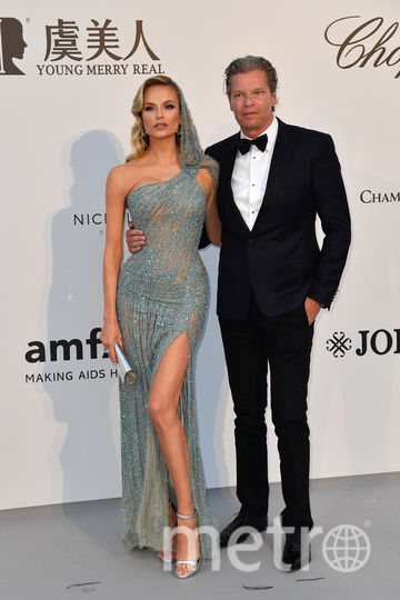 Модель Наталья Полевщикова с мужем. Фото AFP