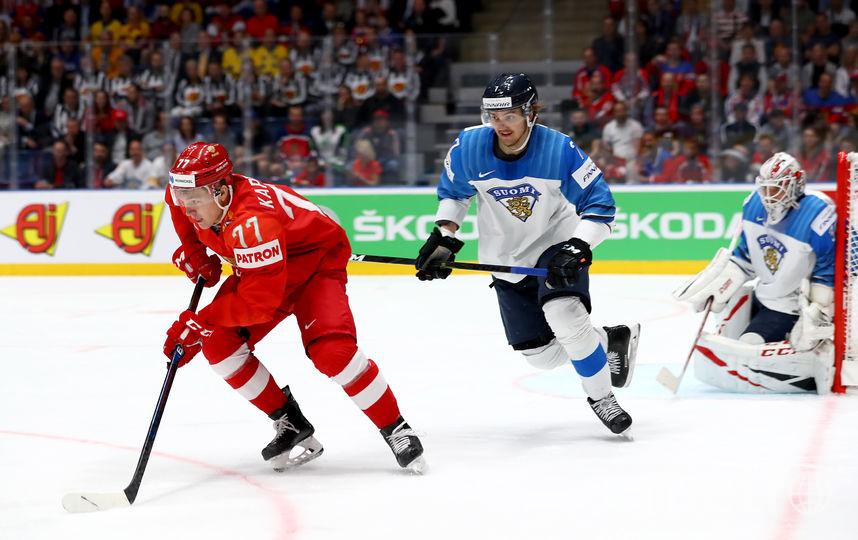 Матч полуфинала ЧМ-2019 по хоккею. Фото Getty