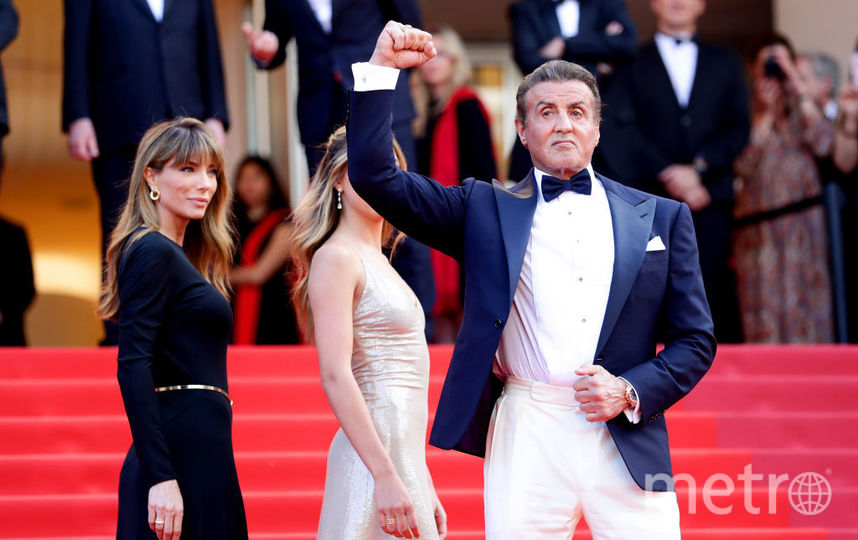 Сильвестр Сталлоне с супругой. Фото Getty