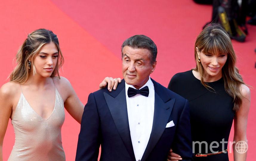 Сильвестр Сталлоне с дочерью и супругой. Фото Getty