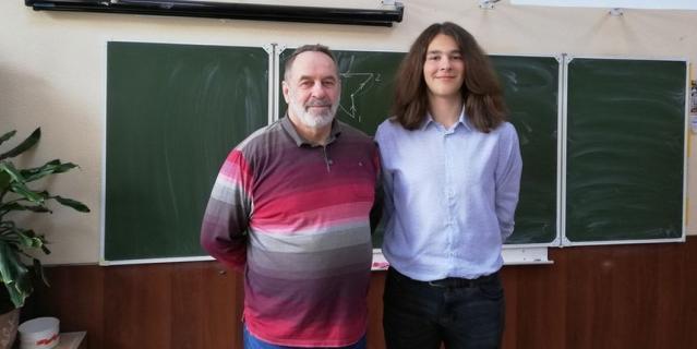 Сергей Полянский и его ученик Алексей, фото сделано за несколько дней до трагедии.