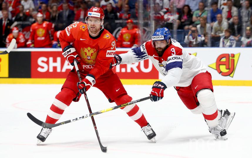Кузнецов в матче за третье место против чехов на чемпионате мира в Словакии. Фото Getty