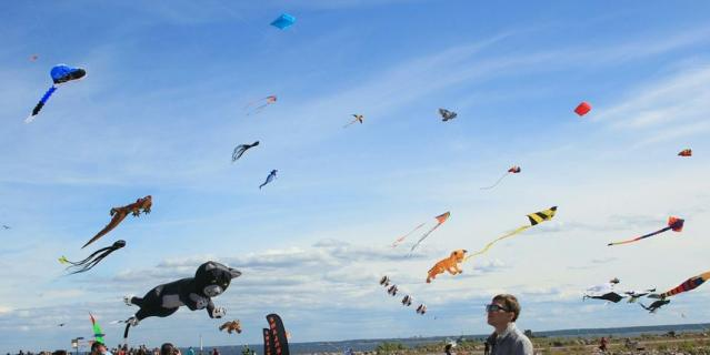 Форт Константин: фестиваль воздушных змеев.