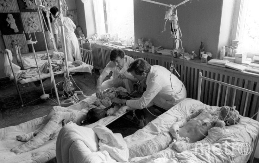 Пострадавшие в результате трагедии. Фото РИА Новости