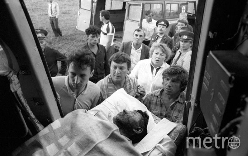 Эвакуация пострадавших в больницы Москвы, Уфы, Челябинска. Фото РИА Новости