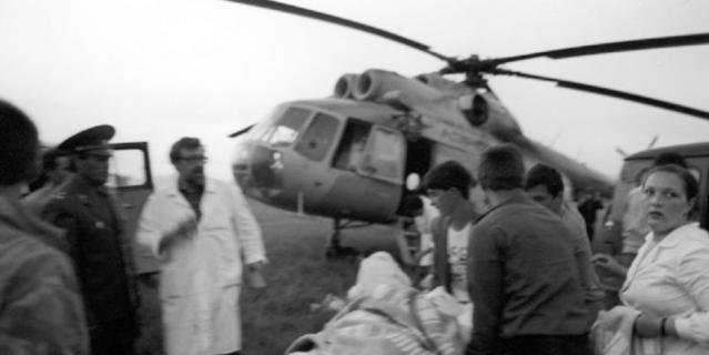 Эвакуация пострадавших в больницы Москвы, Уфы, Челябинска.