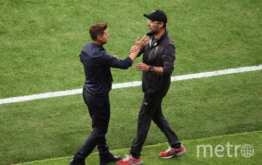 "Тренер ""Тотенхэма"" Маурисио Почеттино (справа) и тренер ""Ливерпуля"" Юрген Клопп (справа). Фото Getty"