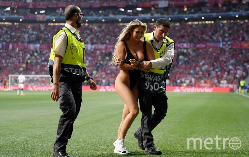 Кинси Волански на финале Лиги чемпионов в Мадриде. Фото Getty