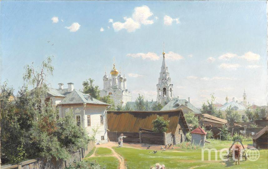 На картине «Московский дворик» изображена часть современной Спасопесковской площади. Фото  www.tretyakovgallery.ru