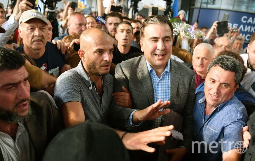 Возвращение Михаила Саакашвили в Украину. Фото AFP