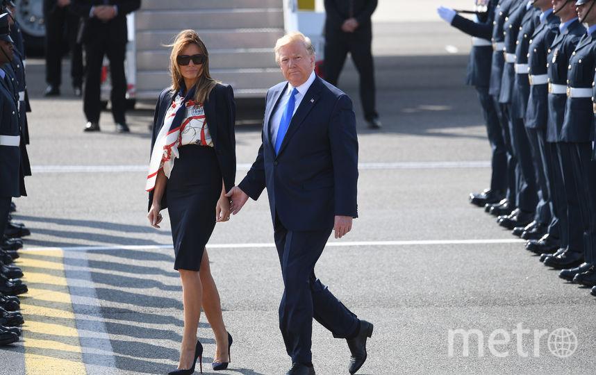 Дональд и Мелания Трамп прибыли в Лондон. Фото Getty