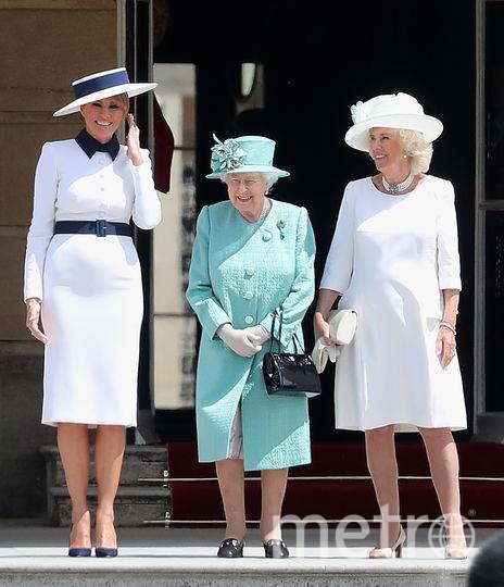 Мелания Трамп, Елизавета II и Камилла Паркер-Боулз. Фото Getty