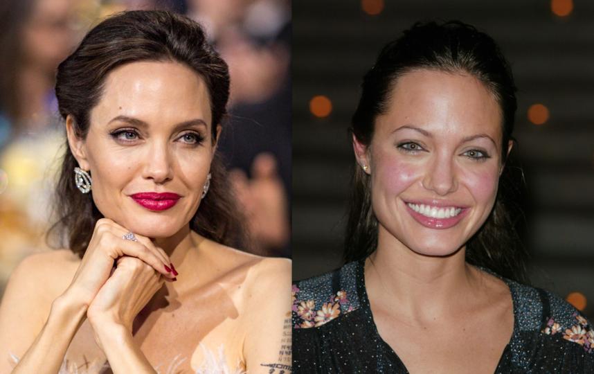 Анджелина Джоли сейчас и в молодости. Фото Getty
