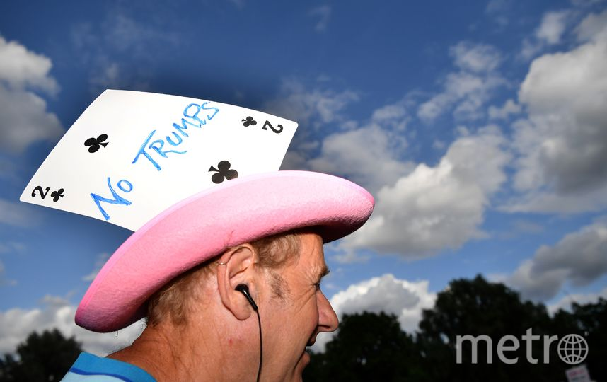 Протесты против визита Трампа в Лондоне. Фото AFP