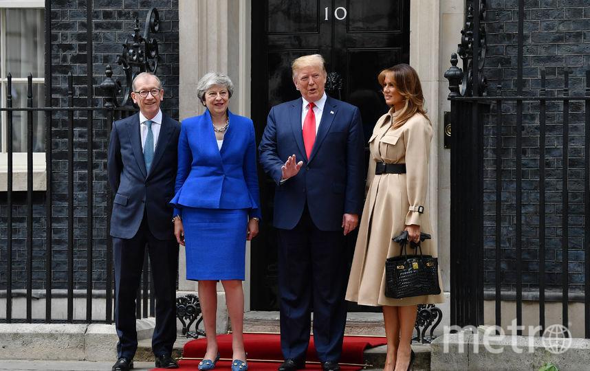 Встреча Дональда и Мелании Трамп с Терезой Мэй. Фото Getty