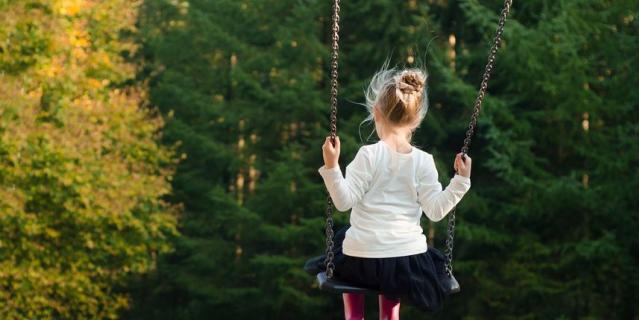 Вспоминайте радостное детство.