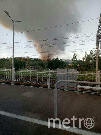 """Пожар был виден издалека. Фото соцсети, """"Metro"""""""
