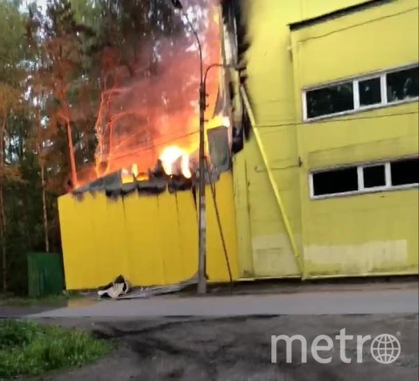"Пожар в Зеленогорске. Фото соцсети, ""Metro"""
