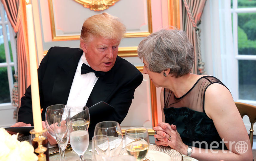 Дональд Трамп и Тереза Мэй. Фото Getty