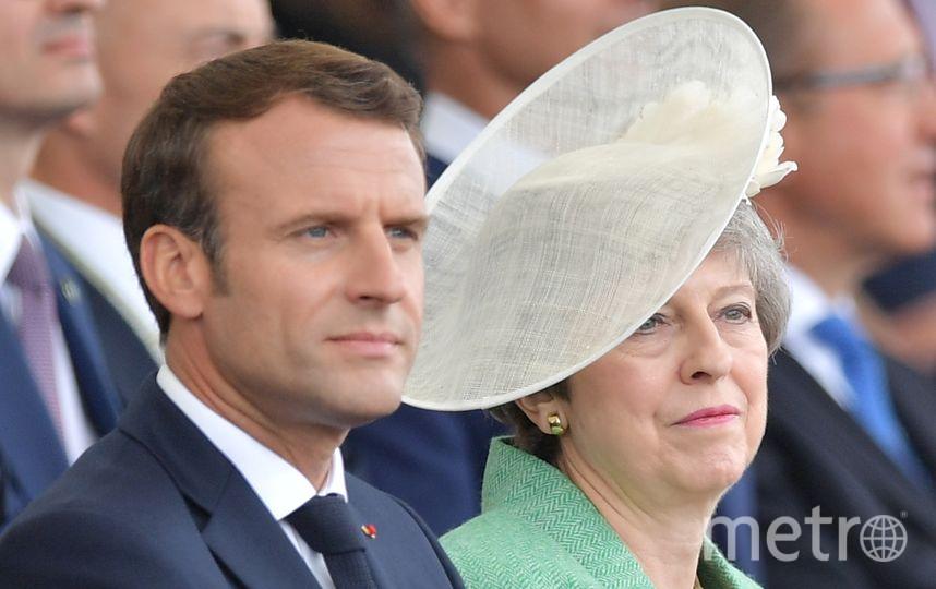 Эммануэль Макрон и Тереза Мэй. Фото AFP