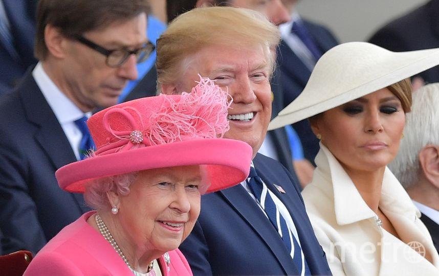 Королева Елизавета II и Дональд и Мелания Трамп. Фото AFP