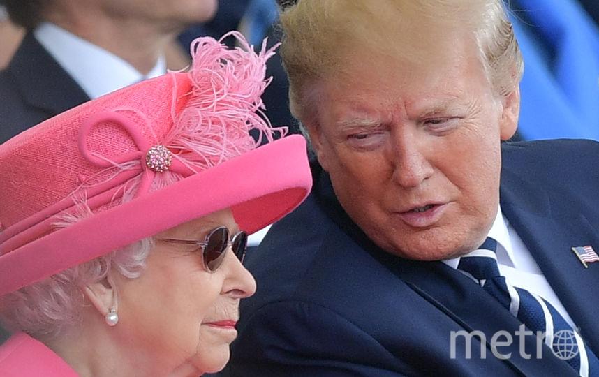 Королева Елизавета II и Дональд Трамп. Фото AFP