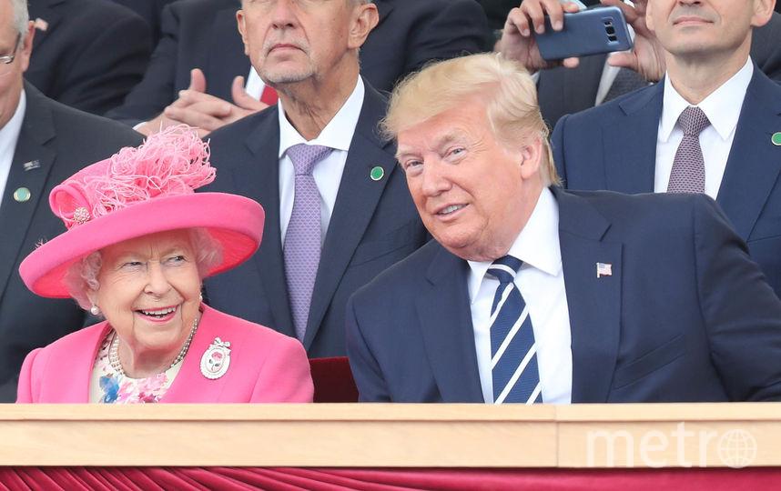 Королева Елизавета II и Дональд Трамп. Фото Getty