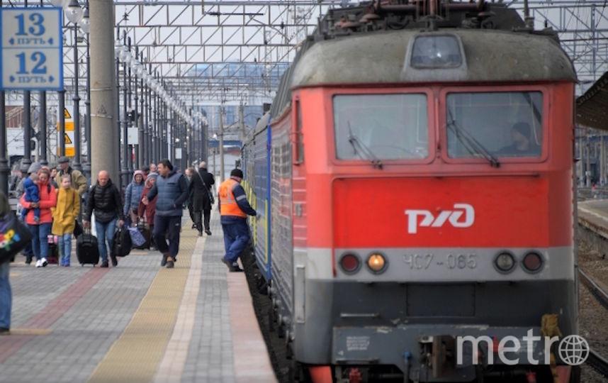 Поезд, архивное фото. Фото РИА Новости