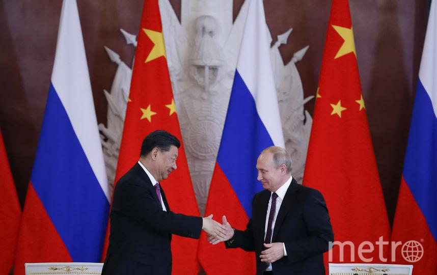 Путин и Си Цзиньпинь провели переговоры. Фото AFP