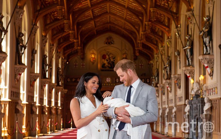 Меган Маркл, Принц Гарри и их сын. Фото AFP