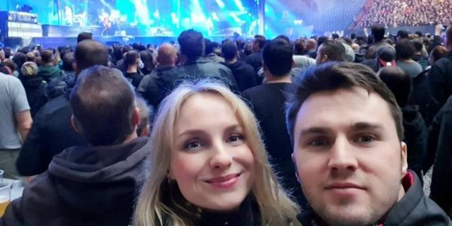 Дарья на концерте.