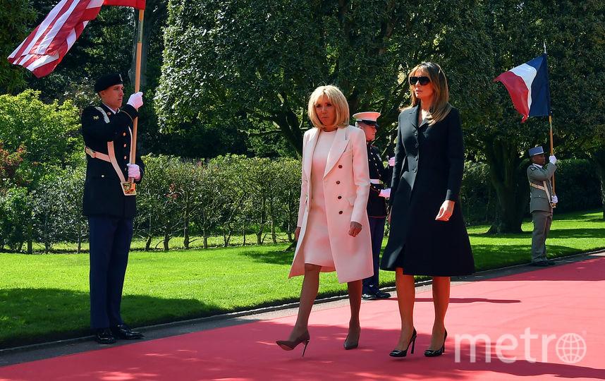 Мелания Трамп и Брижит Макрон. Фото AFP