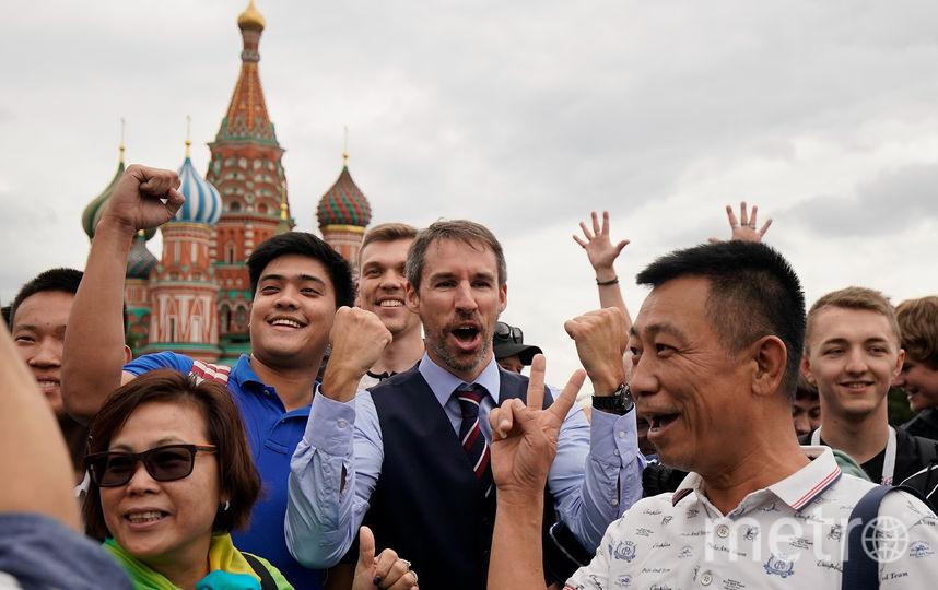 Туристы на Красной площади в Москве. Фото РИА Новости