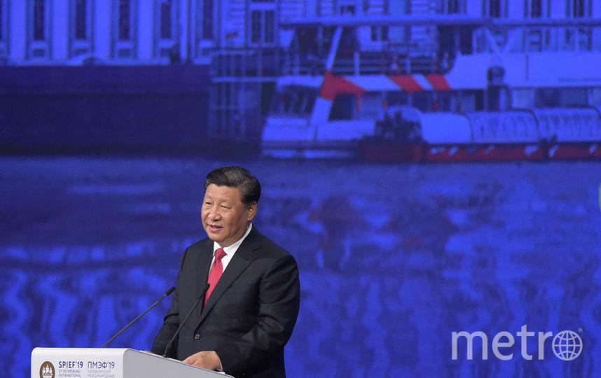Си Цзиньпин на ПМЭФ-2019. Фото AFP