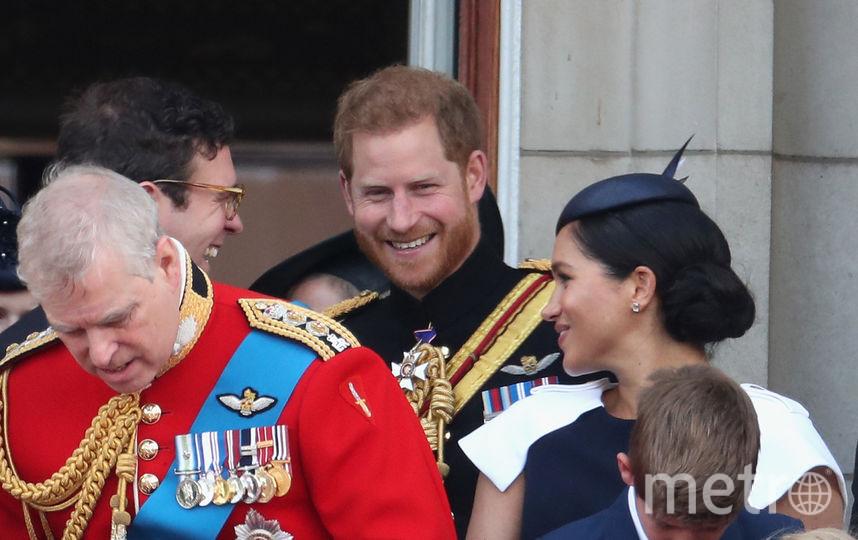 Принц Эндрю, Меган Маркл, принц Гарри. Фото Getty