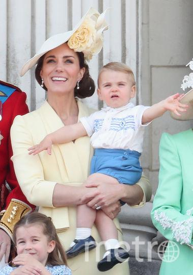 Принц Уильям, принц Луи, Кейт Миддлтон. Фото Getty