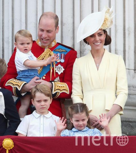 Принц Уильям, принц Луи, Кейт Миддлтон, принц Джордж, принцесса Шарлотта. Фото Getty