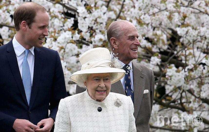 Принц Филипп, Елизавета II и принц Чарльз. Фото Getty