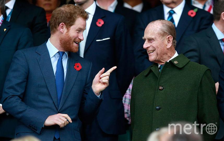 Принц Филипп и принц Гарри. Фото Getty
